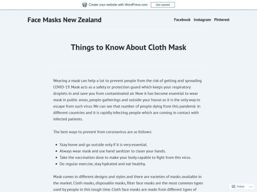Why it is essential to wear a mask