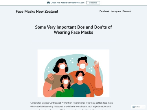 Some Very Important Dos and Don'ts of Wearing Face Masks