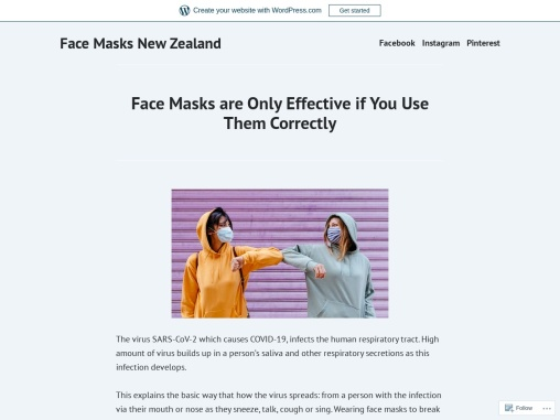 Face Masks are Only Effective if You Use Them Correctly