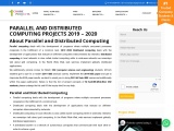 2021 2022 parallel and Distributed Computing Projects Chennai