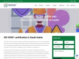ISO 45001 certification in Jeddah