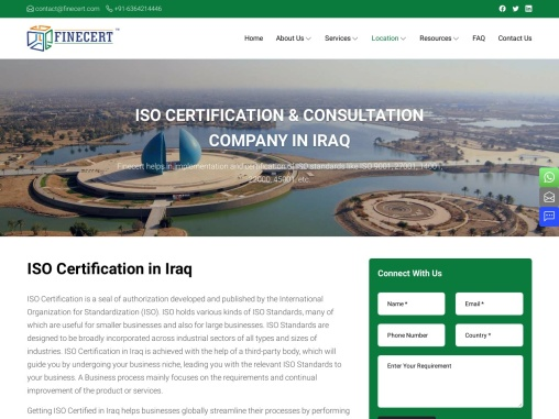 ISO 9001 certification in Iraq
