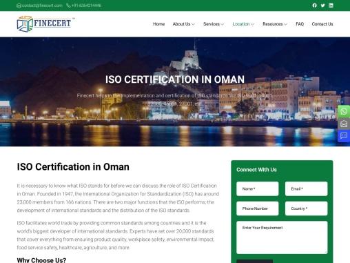 ISO Standards Certification in Oman