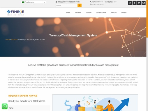 Best Treasury Management System in Saudi Arabia by Finesse Global