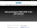 India says homegrown mRNA COVID-19 shot safe in early trial