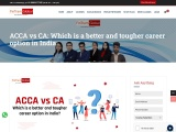 ACCA vs CA: Which is a better and tougher career option in India