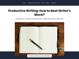 Productive Writing: How to Beat the Writer's Block