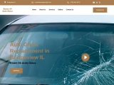 Auto-Glass-Replacement broken glass fix, ceramic to metalized coloring, vehicle entryway fix