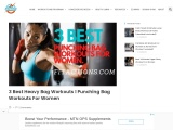 3 Best Punching Bag Workouts for Women l Heavy Bag Workouts