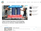 3 Fat Burning Punching Bag Workouts For Weight Loss