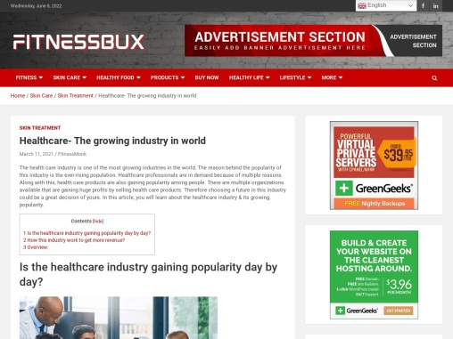 Healthcare- The growing industry in world