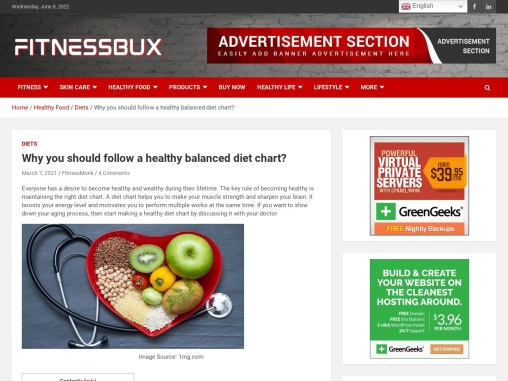 Why you should follow a healthy balanced diet chart?