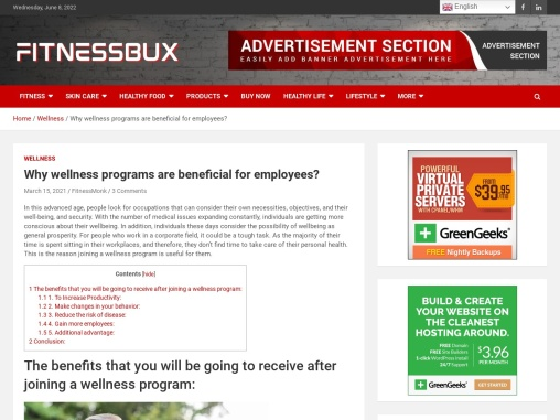 Why wellness programs are beneficial for employees?