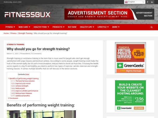 Why should you go for strength training?