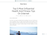 Health and Fitness Tips on Internet From Experts