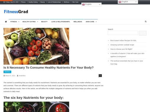 Is It Necessary To Consume Healthy Nutrients For Your Body?