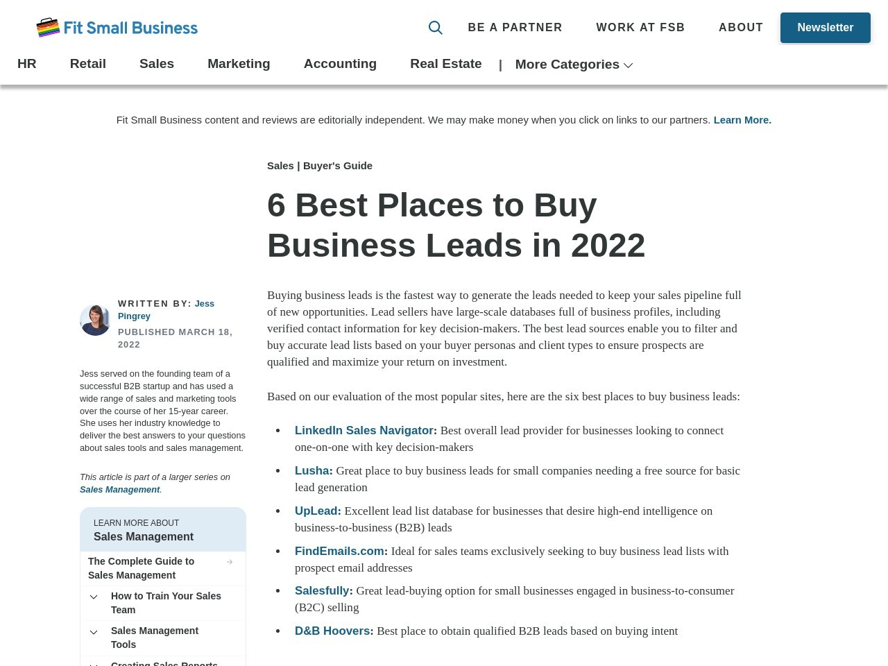 Best Places to Buy Business Leads Online – 2018