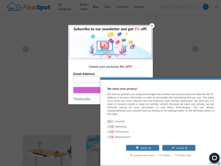 FlexiSpot Discount Codes screenshot