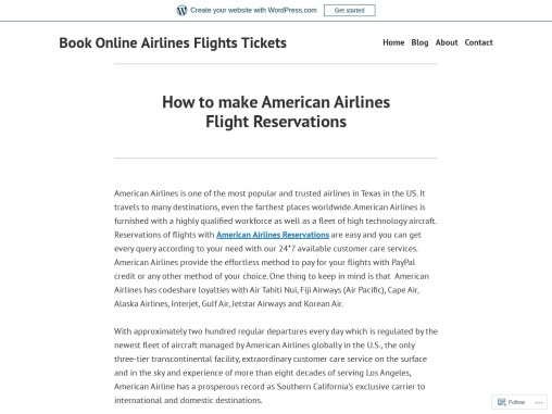 How to make American Airlines Flight Reservations