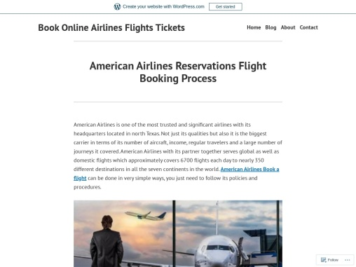 American Airlines Reservations Flight Booking Process