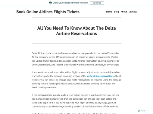 All You Need To Know About The Delta Airline Reservations