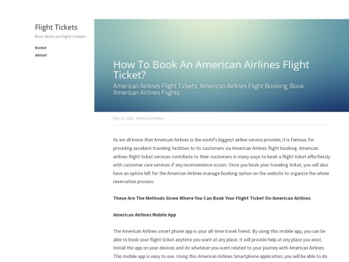 How To Book An American Airlines Flight Ticket?