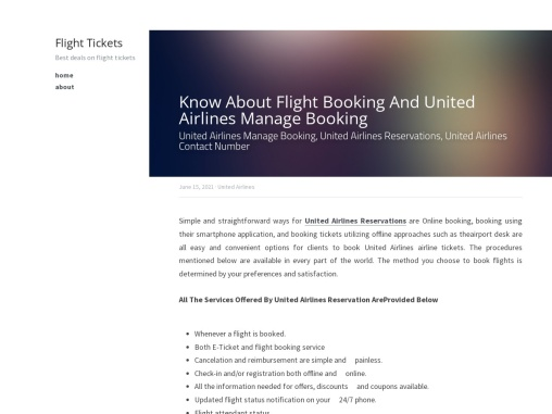 Know About Flight Booking And United Airlines Manage Booking