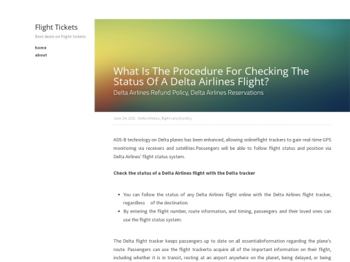 What Is The Procedure For Checking The Status Of A Delta Airlines Flight?