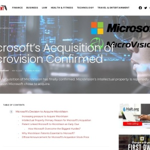 Microsoft's Acquisition of Microvision Revealed - Florida Independent
