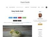 Homemade Easy Garlic Aioli Sauce Recipe