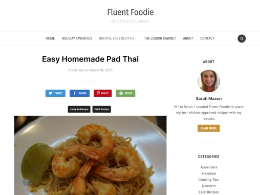 Easy Homemade Pad Thai – Fluent Foodie