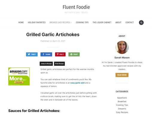 Grilled Garlic Artichokes – Fluent Foodie