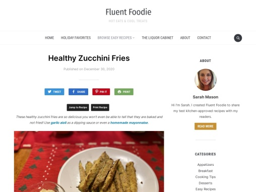 Healthy Baked Zucchini Fries – Recipe