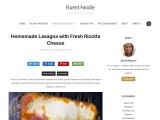 Homemade Lasagna with Fresh Ricotta Cheese