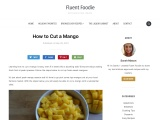 How to Cut a Mango in an Easy Way