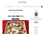 Check out Simple Bread Pudding Recipe