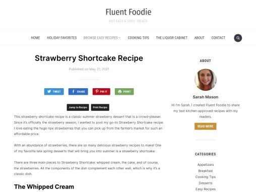 Strawberry Shortcake Recipe – Fluent Foodie
