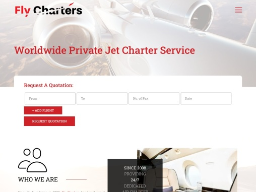 Fly Charters – Private Jet Charters