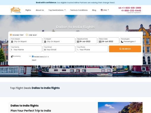 Book Dallas To India Flights – Flyustravels