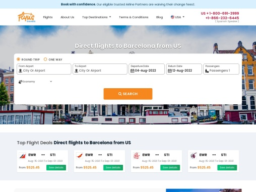 Direct flights to Barcelona from US – Flyustravels