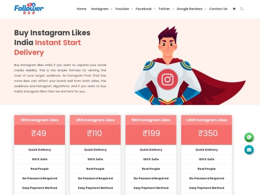 Buy Instagram Likes India At The Very Lowest Price