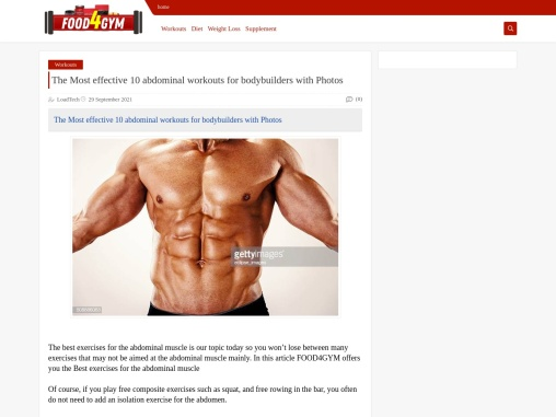10 effective abdominal workouts for bodybuilders with Photos