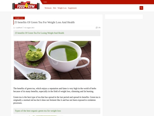 25 benefits Of Green Tea For Weight Loss And Health