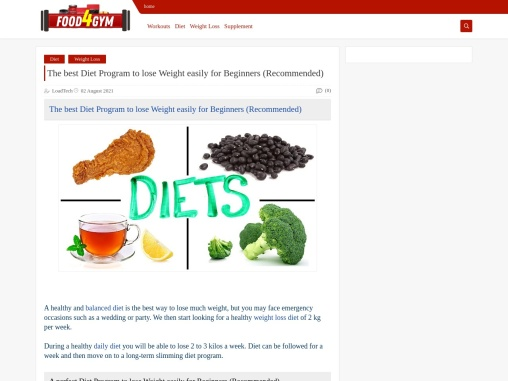 The best Diet Program to lose Weight easily for Beginners (Recommended)