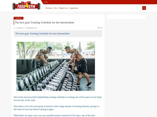 The best gym Training Schedule for the intermediate