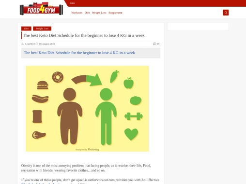 The best Keto Diet Schedule for the beginner to lose 4 KG in a week