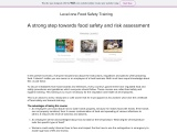 Looking for Management of food safety training?