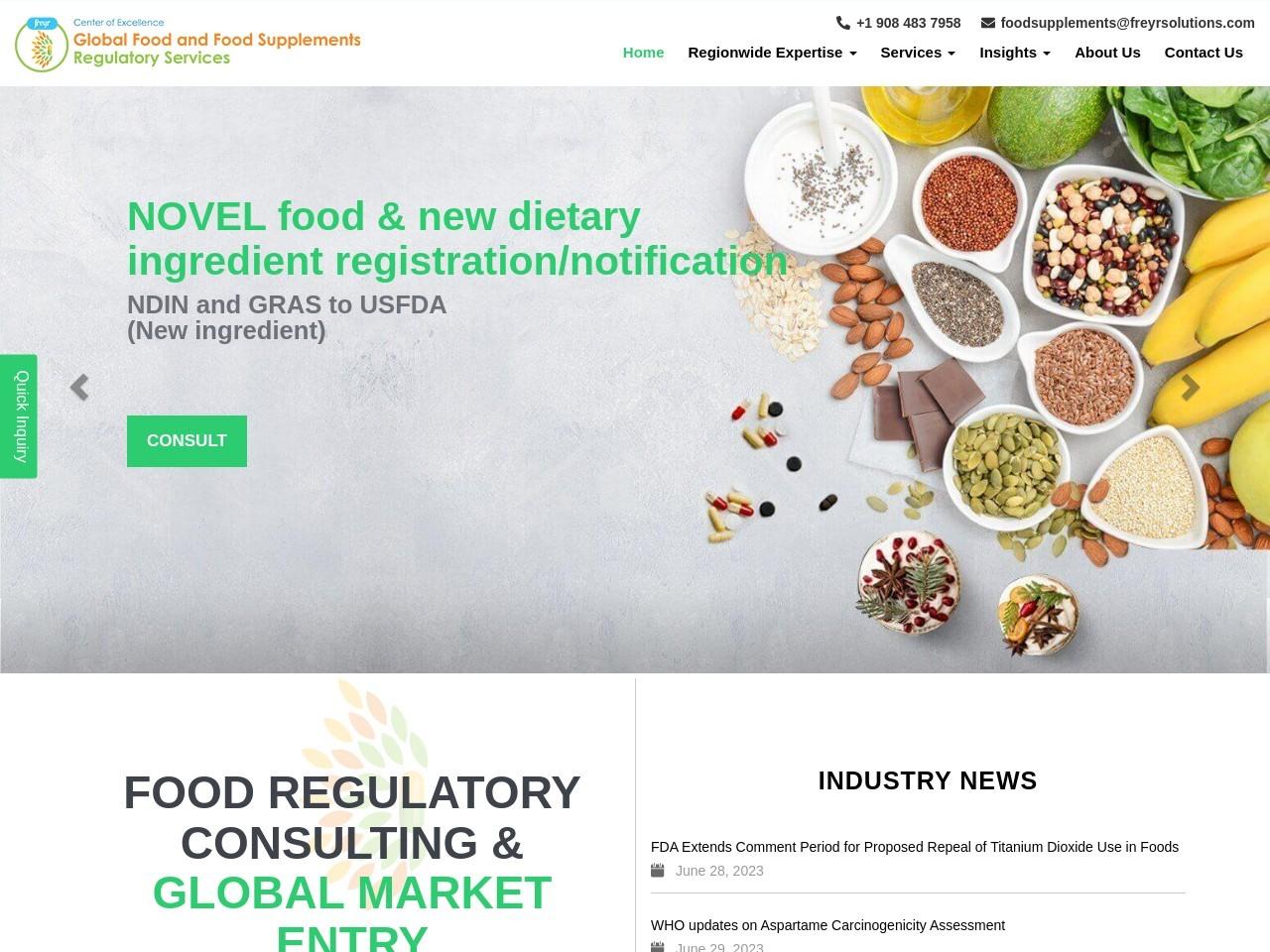 Legal representative, Food product registration, Food supplements