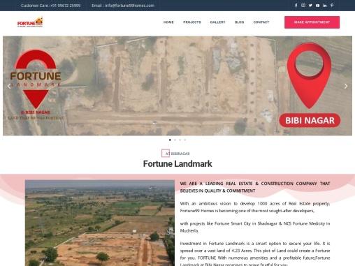 Open Plots for sale in Bibinagar | Fortune99 Homes
