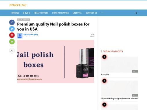 Nail polish box with free shipping in Texas, USA